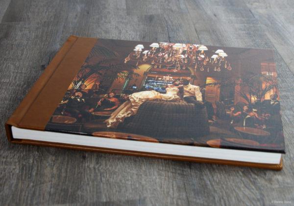 Finao wedding album with canvas cover