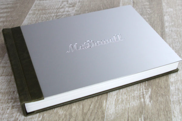 Finao wedding album with metal cover