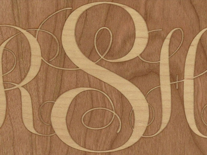Wooden Monogram Cover